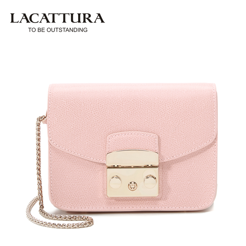 A1312 LACATTURA Brands Mini Flap bags crossbody Bags cow leather clutches bag bolsos women bolsa feminina shoulder messenger bag