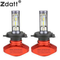 Zdatt Headlight H4 H7 H8 H9 H11 9005 HB3 9006 HB4 9003 HB2 Led Bulb Car