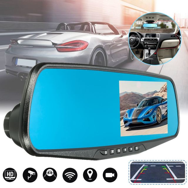 Car DVR Dash Cam Video Recorder Vehicle Rearview Camera Motion Detection Spy Lens FULL HD