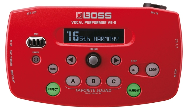 Boss by Roland VE-5 Vocal Performer Effect Processor (Red)
