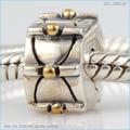 Fit Pandora Pulseras chapado en oro punto de posicionamiento clip de perlas Genuinas plata de ley 925 envío gratis