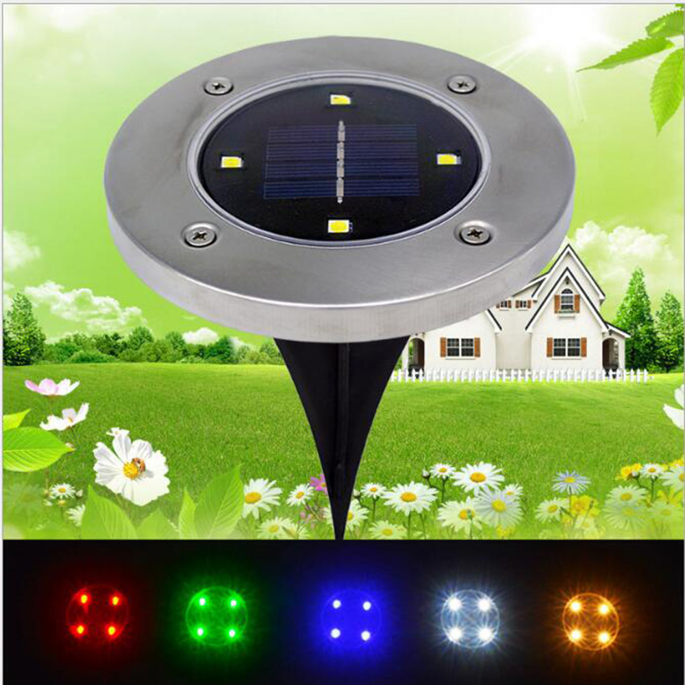 outdoor 4led solar landscape lights. Black Bedroom Furniture Sets. Home Design Ideas