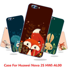 Case For Huawei Nova 2S HWI-AL00,18 Colors,High-quality Silicone Case,Shiny Jelly Silicone Back Cover Case!Red Fox Color Case!(China)