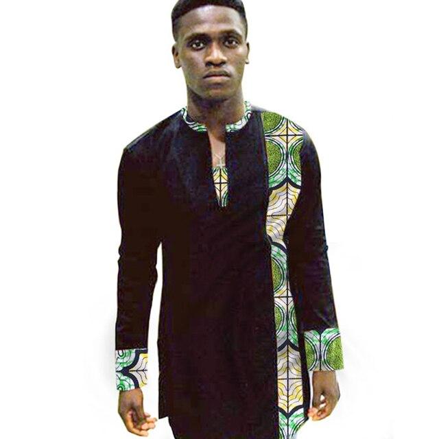 Private nach dashiki kleidung herren ankara muster langarm tops afrikanische  print shirts casual männlichen afrika kleidung d87ad13e05