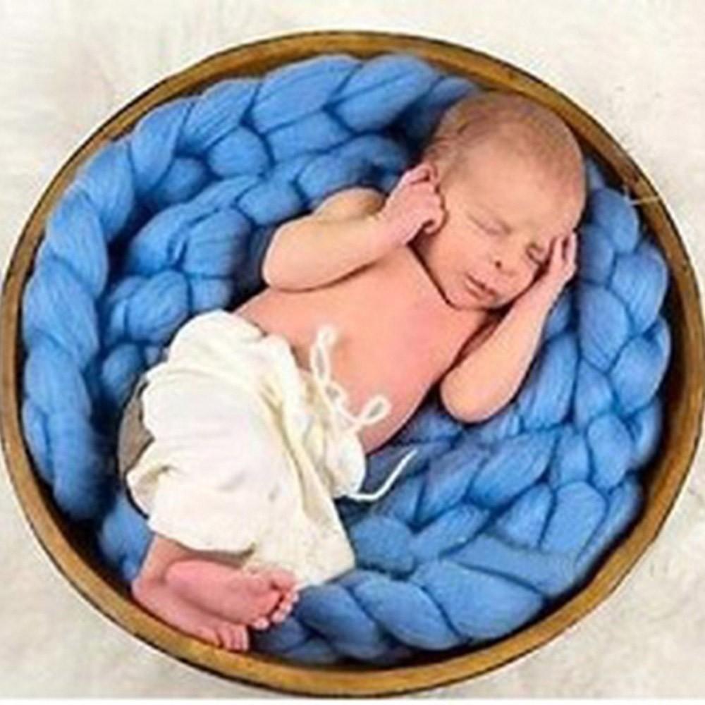Baby-Photography-Props-Blanket-Wool-Fiber-Crochet-Braid-Chunky-Knit-Basket-Stuffer-Newborn-Photography-Blanket-Background-T0051 (6)
