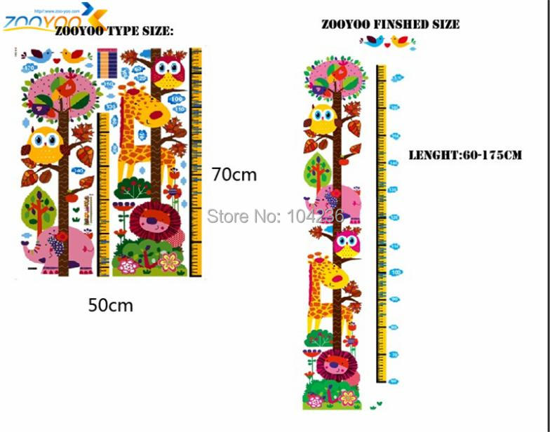 Aliexpress.com : Buy giraffe growth chart wall stickers for kids ...