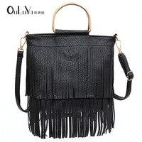 Trend music festival iron handbag elegant tassel bag shoulder Messenger bag female Guangzhou handbag