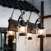 Continuous System Rural Hemp Rope A Originality A Living Room Restaurant Bar Restore Ancient Ways Loft Designer A Chandelier