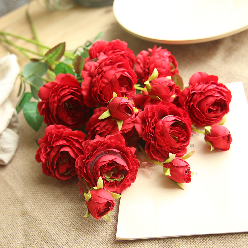 peony artificial roses flowers (4)