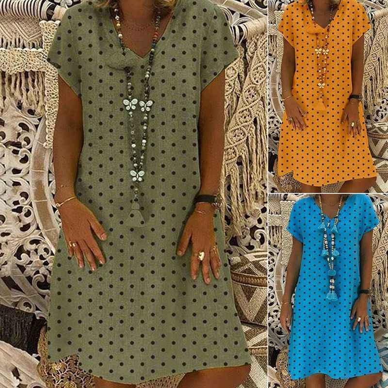 Женское хлопковое и льняное платье 2019 летние платья с коротким рукавом с v-образным вырезом футболки женские повседневные платья сексуальные платья