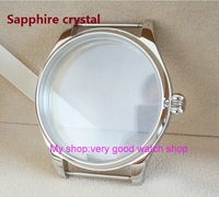 sapphire crystal parnis 44MM 316L stainless steel watch case fit 6497/6498 Mechanical Hand Wind movement 02