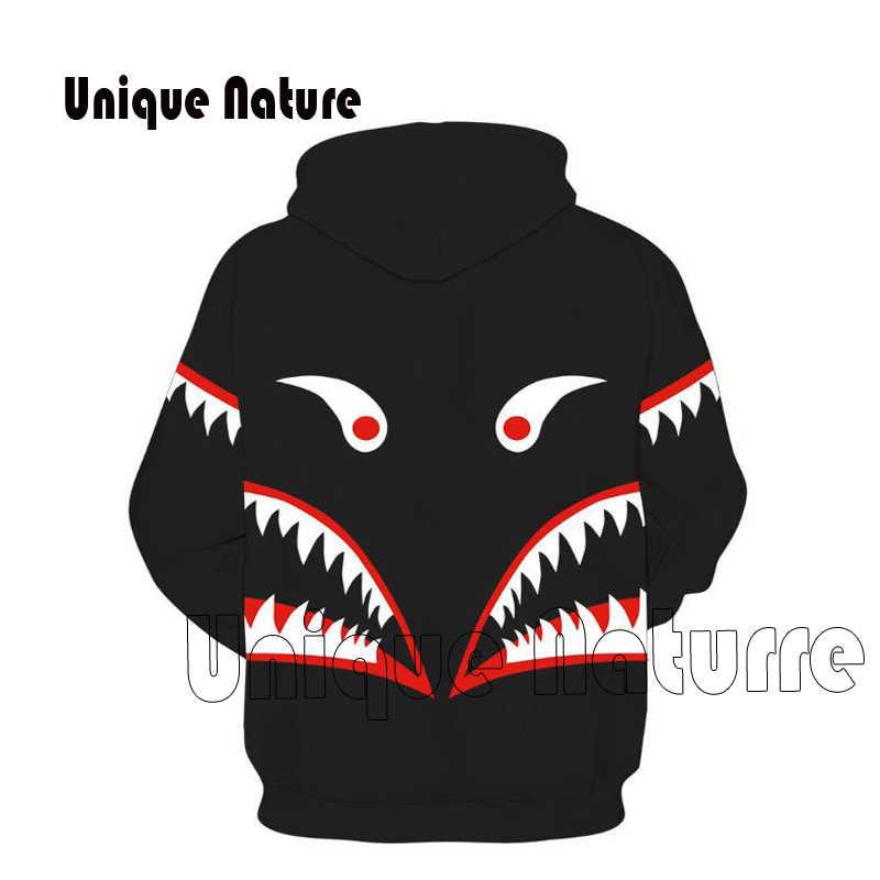 Уникальная природа мужская верхняя одежда 3D Аниме куртки с длинным рукавом толстовки Косплей уличные спортивные костюмы Акула толстовки с капюшоном рисунком