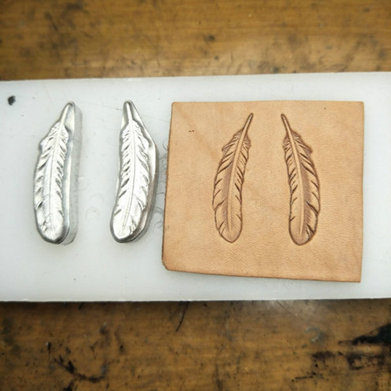 Leather Craft DIY Feather Stamping Metal Mould