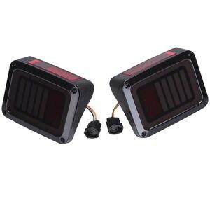 Image 4 - Tylne światła LED przydymione soczewki do Jeep Wrangler 2007 2017 JK JKU z przerwą lampa tylna światło cofania Parking lampka sygnalizacyjna montaż