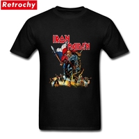Iron Maiden Tour Mens T Shirt Custom Designer Short Sleeved Cotton Male Casual Wholesale Price Rock
