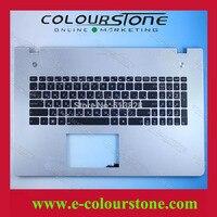 Ru Black Laptop Keyboard For ASUS N76 With Backlit And Palmrest Notebook Keyboard 9Z N8BBU G0R