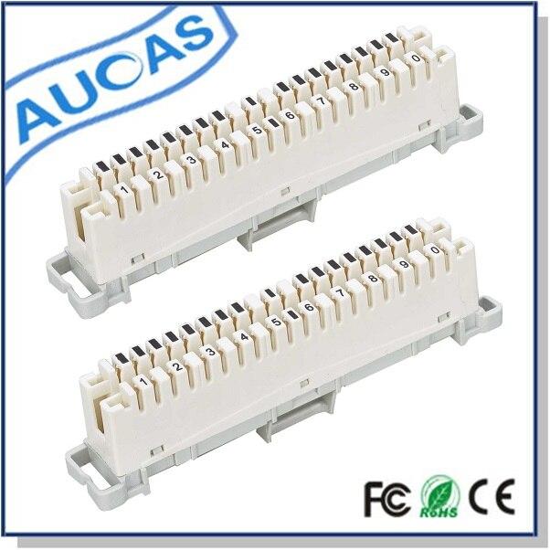 AUCAS 10PCS Modul de deconectare 10 perechi krone Modul krone de fier Transport de înaltă calitate