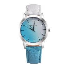 Women Watches Beauty Retro Rainbow Design Leather Band Analog Alloy Quartz Wrist Watch relogio feminino Ladies Dress