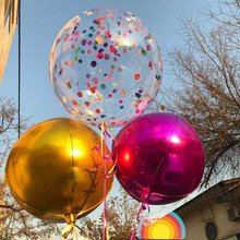 5pcs/lot 18 inch transparent round balloon wedding Party celebration decorative PE Helium Clear ballon bobo baloon