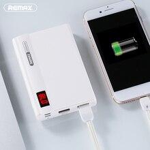 Remax линон Pro Dual USB Портативный мобильный Запасные Аккумуляторы для телефонов со светодиодной Дисплей 10000 мАч Внешняя батарея Зарядка для iPhone 6 для Xiaomi