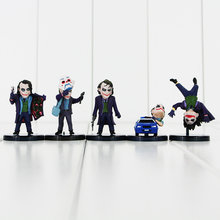 5 pçs/lote Superheroes The Joker Batman O Cavaleiro Das Trevas Coleção Toy Modelo PVC Action Figure Keychain(China)