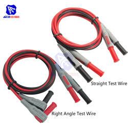 """P1032/P1033 4 мм 1000 в 15A Разъем типа """"банан"""" Тесты линии литья под давлением прямой/правый угол прямой мультиметр силиконовые провода кабель"""