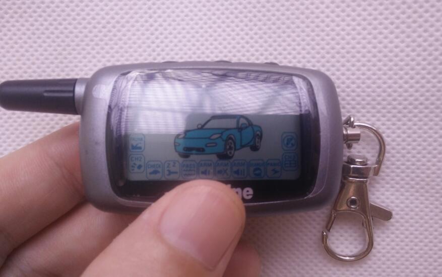 imágenes para Control Remoto LCD Llavero + + Llave de Silicona Cubierta de la Caja para 2 Sistema de Alarma Del Coche de Dos vías Starline Twage A6