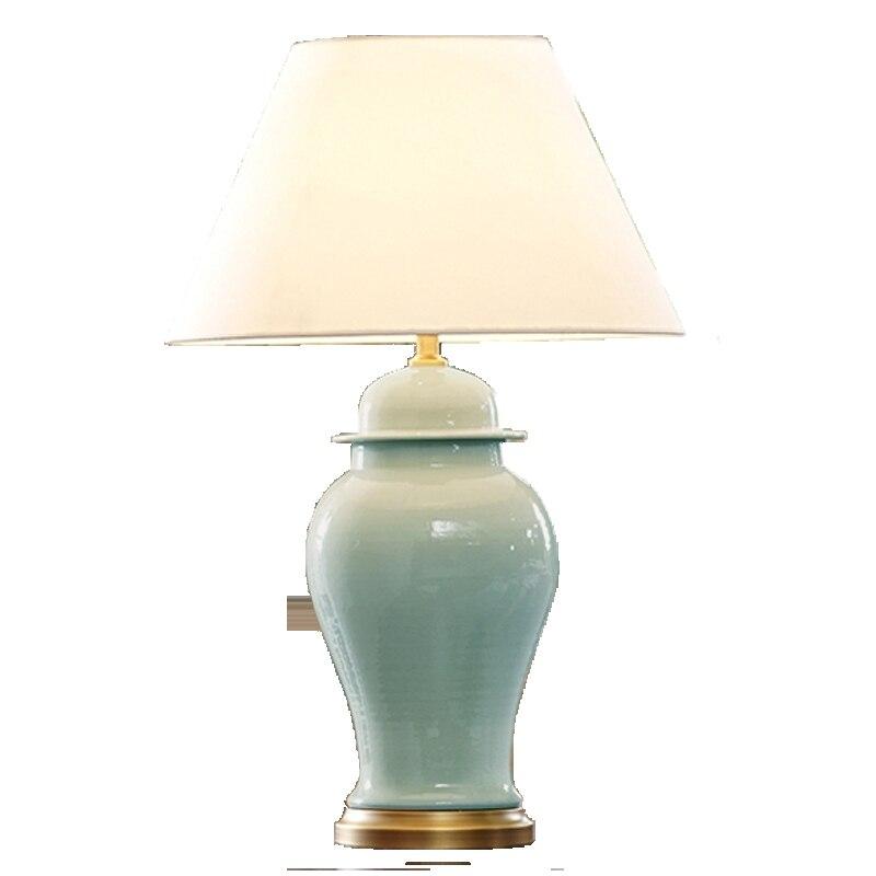 Špičková moderní pastorační čínská ledem prasklá keramická tkanina E27 stmívatelná stolní lampa pro obývací pokoj Ložnice Svatba 1070