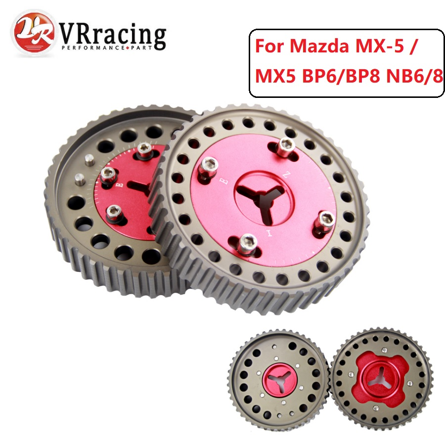VR RACING - Cam Gear Pulley Pair For Mazda MX-5 / MX5 BP6/BP8 NB6/8 Camshaft Gears Red VR6539R