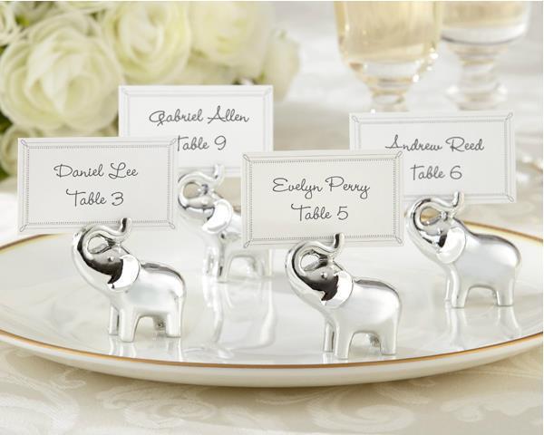 24 kom / puno Srebrni Slon Mjesto kartice Držači vjenčanjaDecoration Party Supplies favorizira darove za svadba