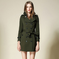 BURDULLY 2017 New Fall Women Trench Coat Feminino Inverno Winter Loose Long Outwear Autumn Trench Coat