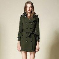 BURDULLY 2017 New Fall Women Trench Coat Feminino Inverno Winter Loose Long Outwear Autumn Trench Coat