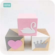 MamimamiHome Baby Toys 3pc Pastoral Wooden Swan Decoration Home Decor Environmental Protection Creative Decoration Children Toys(China)