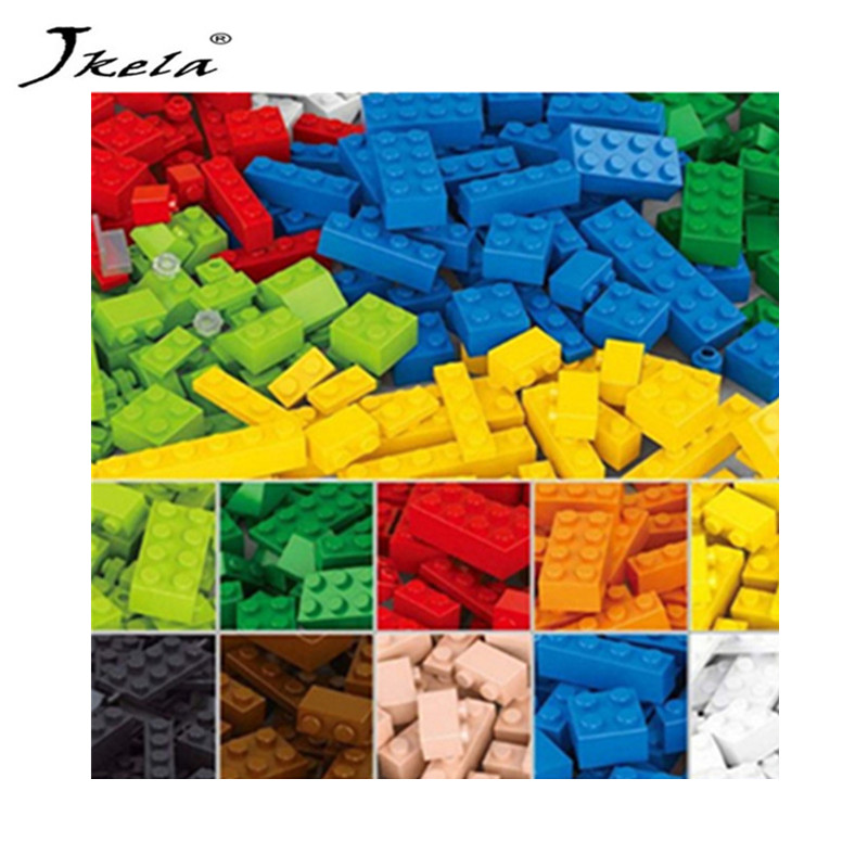 [Jkela] Legoingly Duplo 1000Pcs DIY City Creative Building Blocks Bricks Educational toys Compatible Bricks For Children Gift 1000pcs bulk bricks educational children toy compatible with major brand blocks 10 colors diy building blocks creative bricks