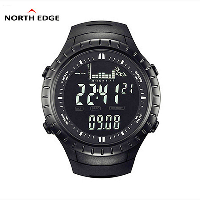 NORTH EDGE Sport Brand Watch Men Outdoor Altitude Climbing Digital Watch Male Military Electronics Watches Relogio Masculino