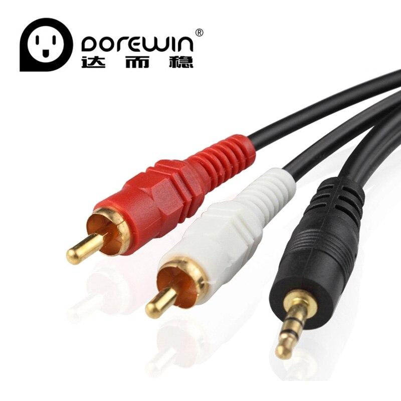 Dorewin rca audio cable 2rca male to jack to 2 rca for Precio cable 2 5mm