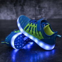 New Kids USB Luminous Sneakers Glowing Children Lights Up Led Shoes With Led Slippers Girls Illuminated Krasovki Footwear Boys 2018 new usb illuminated krasovki luminous sneakers glowing kids shoes children with sole led lights up sneakers for girls