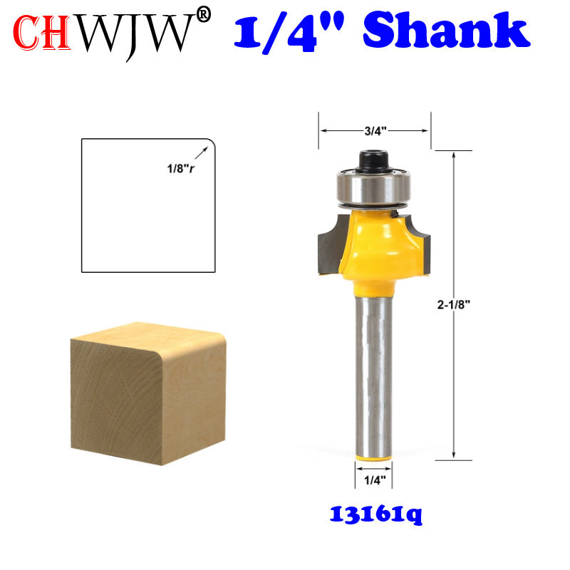 1Pc Round Over Edging Router Bit - 1/8