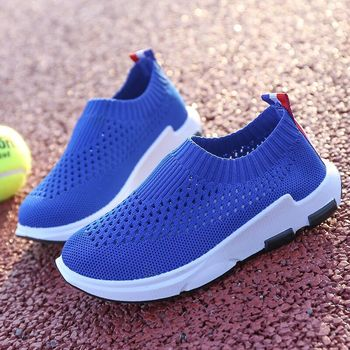 Summer Kids Shoes Mesh Breathable Children Shoes For Girls And Boys Light-weight Casual Sport Shoes Children Knit Sneakers