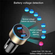 Car Charger 5V 3.1A With LED Display Universal Dual Usb Phone Fast Car-Charger for Xiaomi Huawei Samsung S8 Mobile Phone <