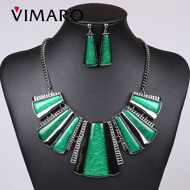 VIMARO elegant oil drip women jewelry sets resin irregular 2017 fashion Alloy jewelry acessories