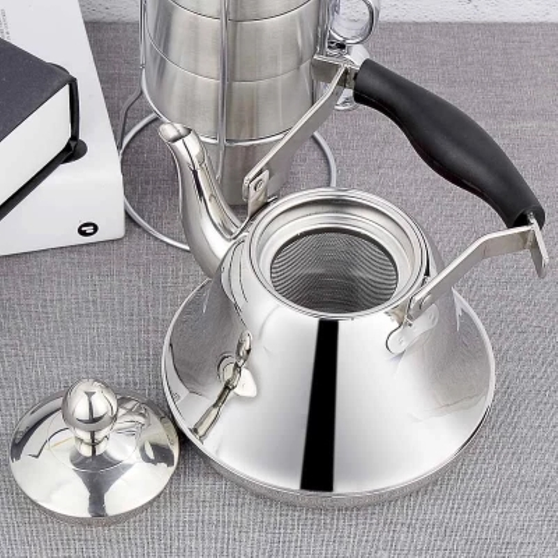 Thicken High Quality Stainless Steel Water Kettle Tea Pot With Filter Induction Cooker Home Tea Kettle Coffee Pot 1 0L 1 5L 2 0L in Water Pots Kettles from Home Garden