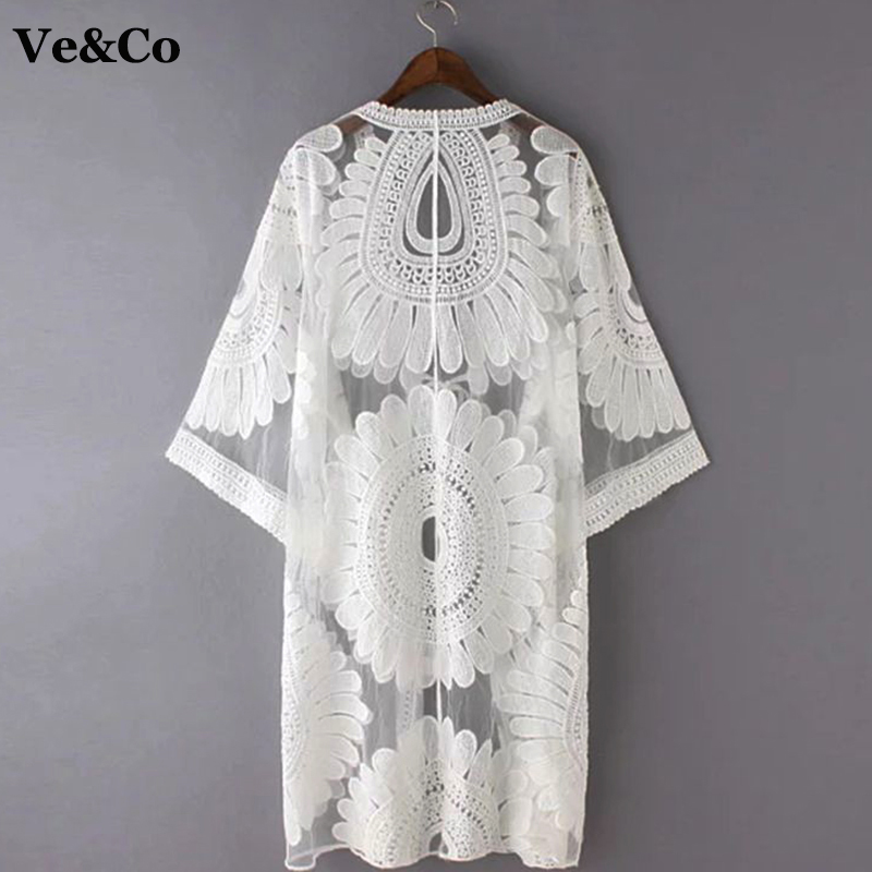 457bc918e16f 2018 Pareo Beach Cover Up Floral Embroidery Bikini Cover Up Swimwear Women  Robe De Plage Beach Cardigan Bathing Suit Cover Ups-in Cover-Ups from  Sports ...