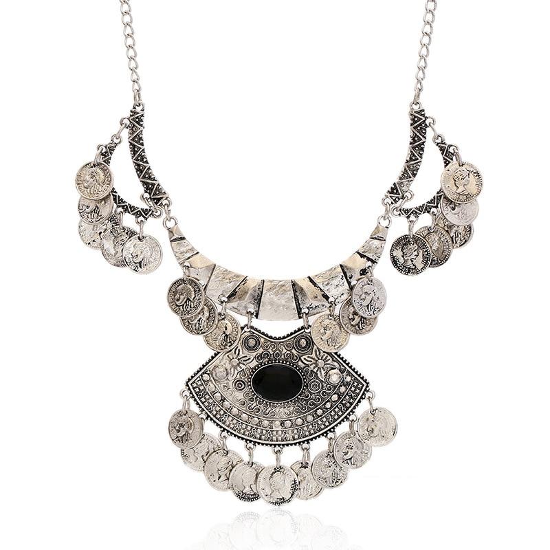 8272ebaf3512 Lzhlq vintage multilayer borla gargantilla declaración collar mujeres  aleación de zinc Collares Colgantes moda collares