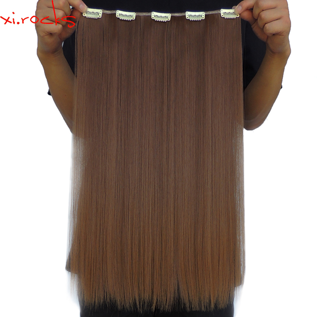 5 Piecelot Xicks 5 Clip In Hair Extension 50cm Synthetic Hair