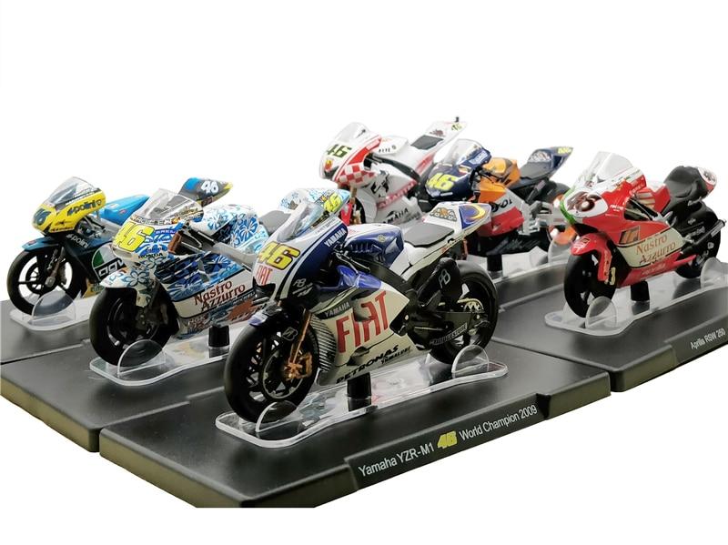 1:18 MotoGP 46 Rossi Yamaha YZR Honda RC211V Aprilia RS125 Diecast Motorrad Modell Bikes