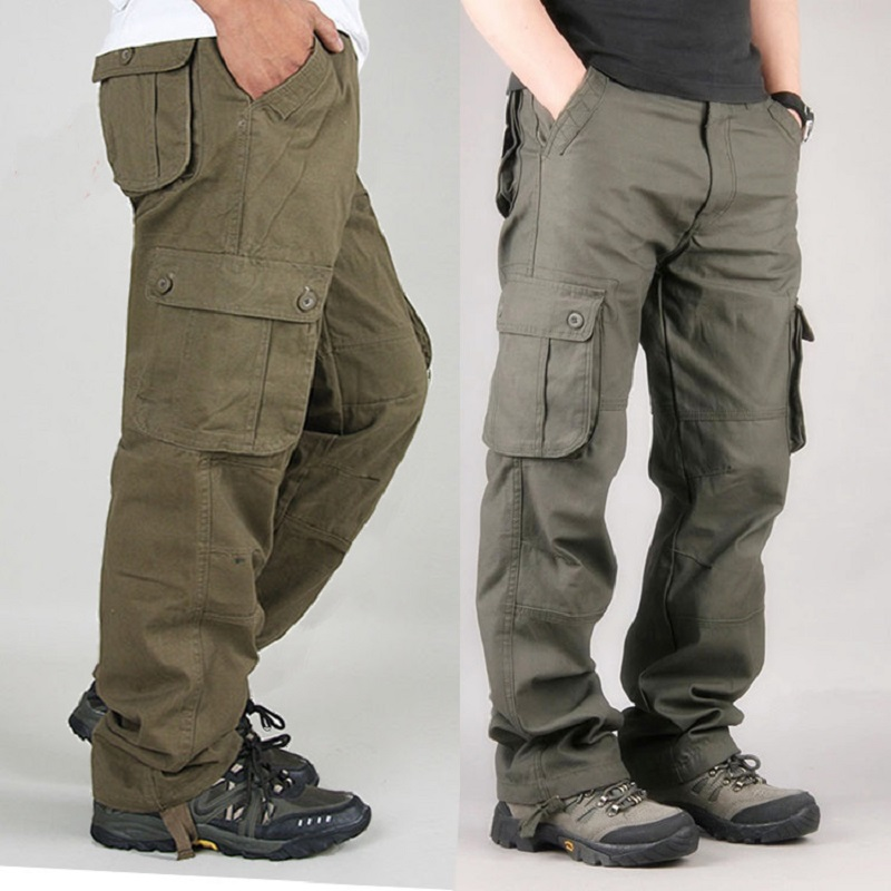 2017 Mens Cargo Pants Casual Mens Pant Multi Pocket Military Overall Men Outdoors High Quality Long Trousers 30-44 Plus size ...
