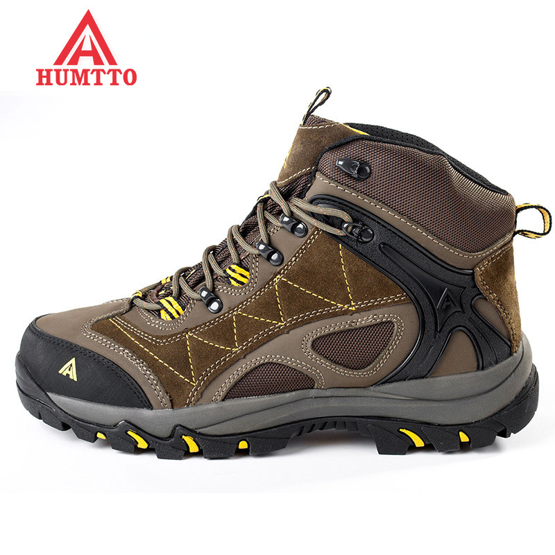 New Men's Winter Hiking Shoes Thermal Warm Outdoor Shoes Trekking Shoes Anti-Slippery Mountain Winter Sneakers Boots For Men humtto new hiking shoes men outdoor mountain climbing trekking shoes fur strong grip rubber sole male sneakers plus size