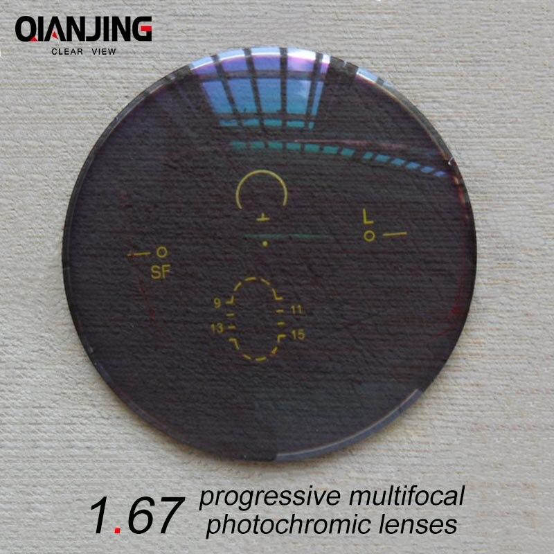 QJ 1 67 Index Wide Field Interior Progressive Multifocal Photochromic Lens Prescription Myopia Presbyopic Astigmatism Lenses