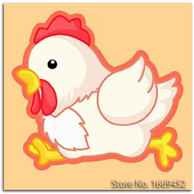Bordir Kit Kartun Hewan Ayam Ayam Diy Lukisan Berlian Cross Stitch